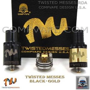 BLACK GOLD TWISTED MESSES.