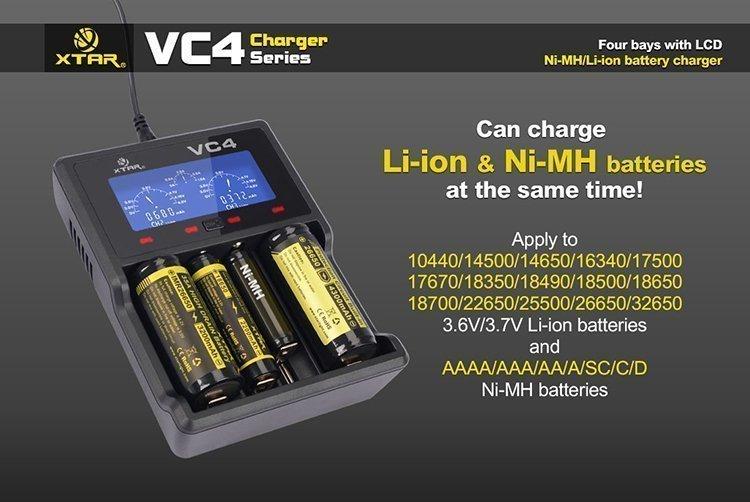 Xtar Vc4 Amp Vc2 Plus Master Charger Hogvaping