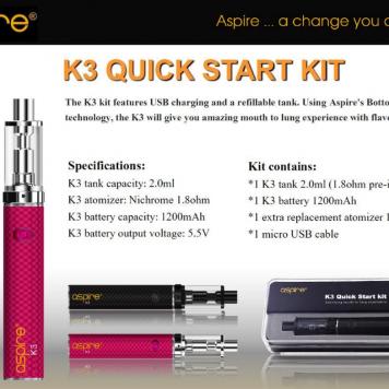 aspire k3 quick start