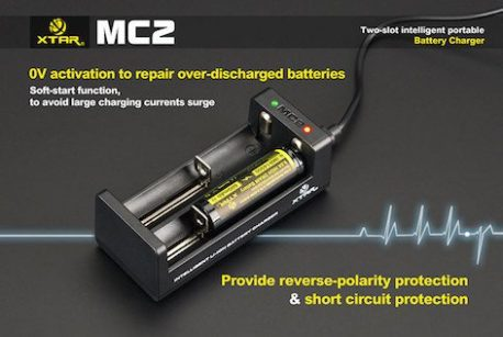 2 bay charger