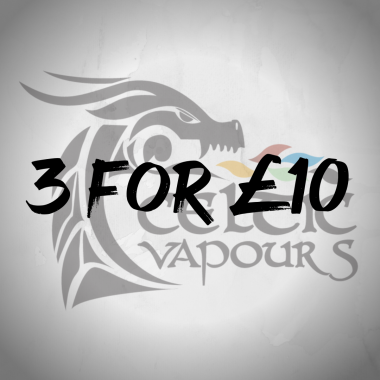 E-Liquids included in the 3 for £10 offer